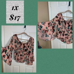 1x fall colors bell sleeve gorgeous top
